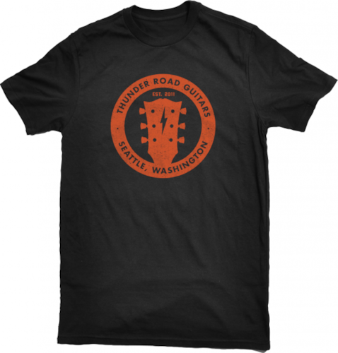 Thunder Road Guitars Orange Logo T Shirt
