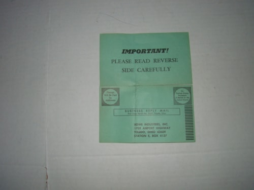 1965 DeArmond™ Rowe Pickup Warranty