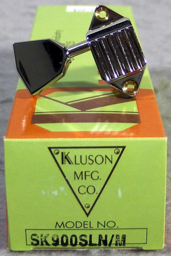 Kluson SK900SLN/M Waffleback, 3 On a Side, Metal Button