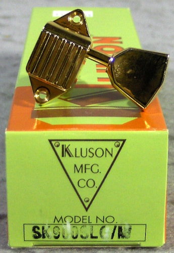 Kluson SK900SLG/M Waffleback, 3 On a Side, Metal Button