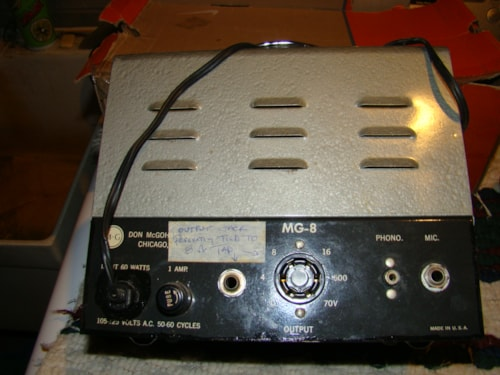 1964 McGowan PA/Guitar Head