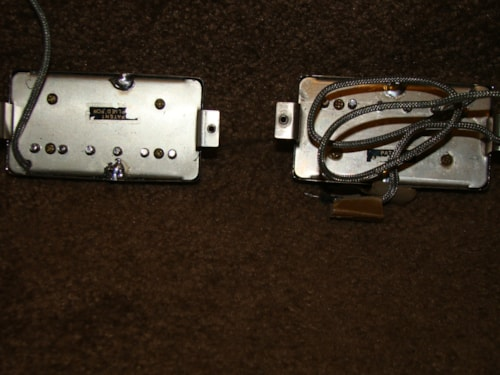 Gibson 2 PAF Pickups (Chrome) /Black Bobbin