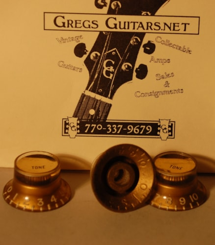 1960 Gibson gold top hat knobs