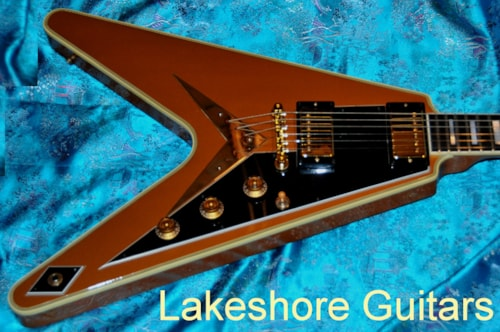 2003 Gibson Flying V Goldtop Custom