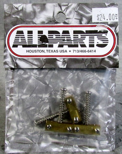 Allparts BP-0537-008 Brass Bridge Saddles for Telecaster®