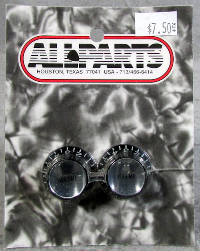 Allparts PK-0184-023 Black Volume Reflector Knobs