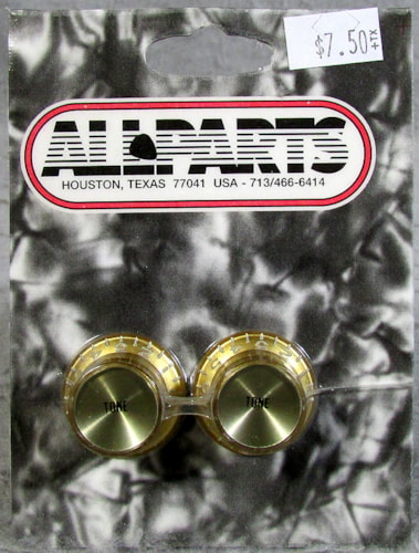 Allparts PK-0182-032 Gold Tone Reflector Knobs
