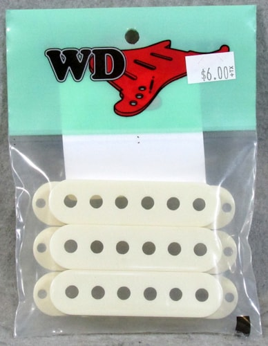WD Music Single Coil Pickup Cover Antique White (Set 3)