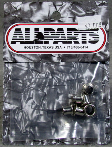 Allparts TK-0902-001 Vintage Style Eyelet Bushings Nickel