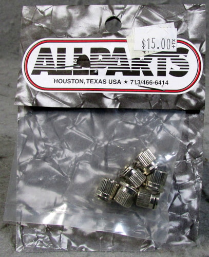 Allparts TK-0788-001 Vintage Press Fit Hex Bushings Nickel