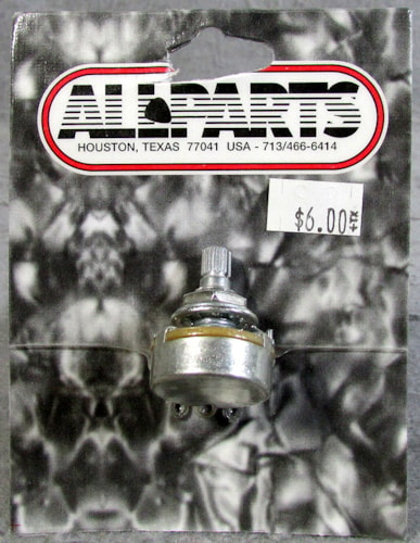 Allparts EP-0088-000 CTS 1 Meg Split Shaft Linear Pot