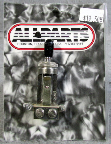Allparts EP-4367-000 Switchcraft Straight Toggle Switch