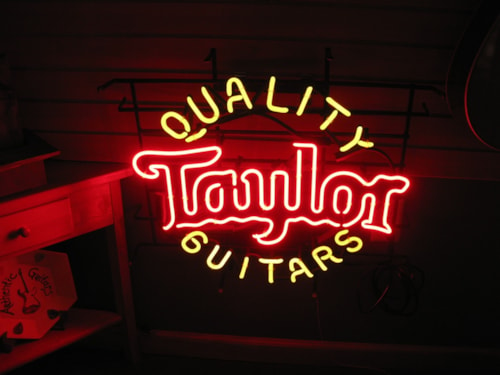 Taylor Neon Sign,