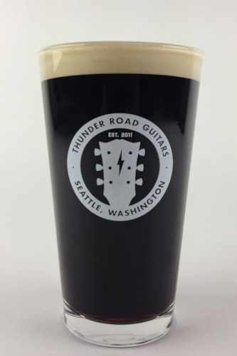 Thunder Road Guitars Pint Glass
