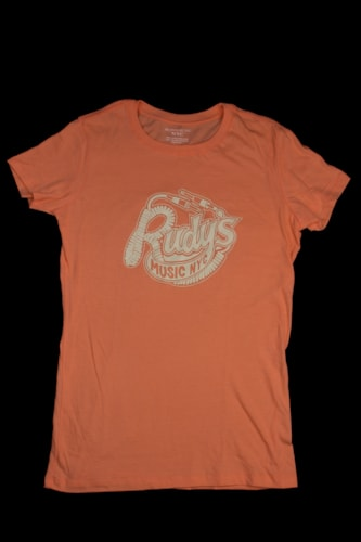 2013 Rudy's Music Womens Throwback Logo T-Shirt