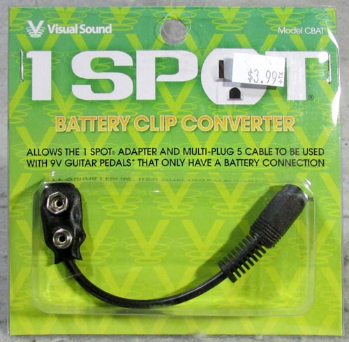 Visual Sound 1 Spot Battery Clip Converter