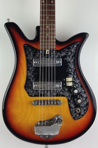 1965 teisco del ray tulip sunburst guitars electric solid body thunder road guitars. Black Bedroom Furniture Sets. Home Design Ideas