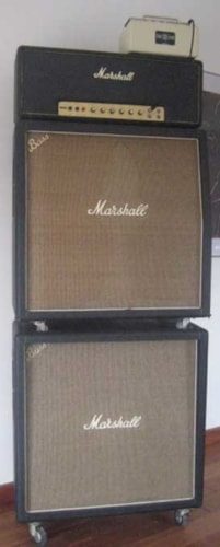 1967 Marshall JTM 100 Head With Matching Angled and Straight 4x12 Cabinets