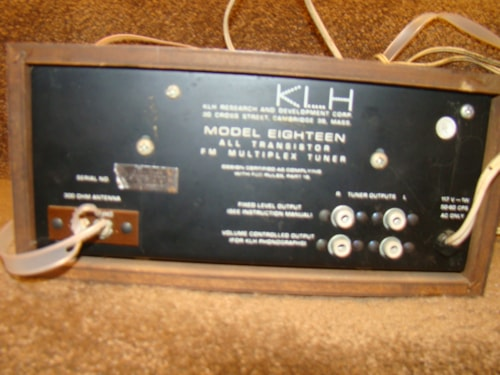 KLH Model 18 FM Multiplex