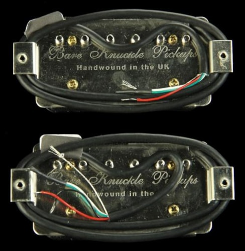 Bare Knuckle Emerald Humbucker Pickup Set (Black Open Coil)