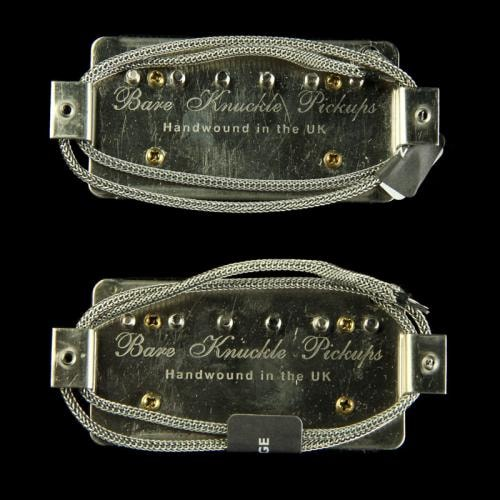 Bare Knuckle Nailbomb Open Coil Humbucker Pickup Set (Black)