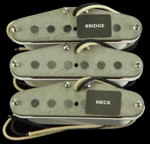 Bare Knuckle Trilogy Suite Single Coil RWRP Pickup Set (White)