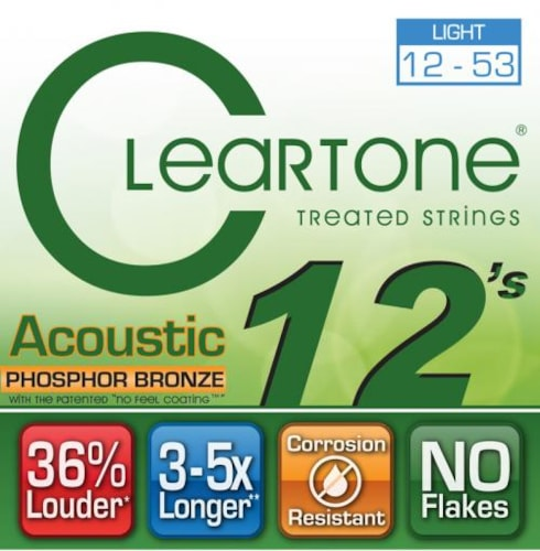 Cleartone EMP Phosphor Bronze Acoustic Guitar Strings Light 12-53