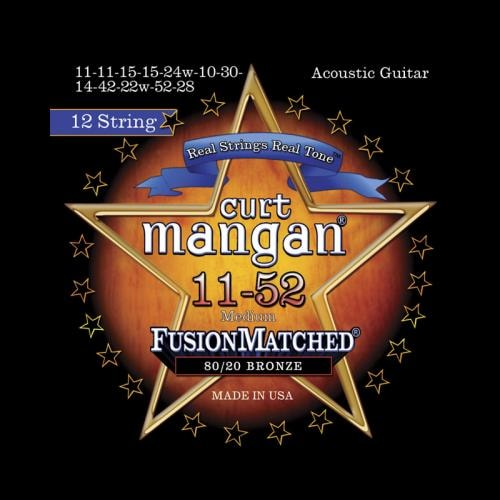 Curt Mangan Fusion Matched 80/20 Bronze 12-String Acoustic Strings (11-52)