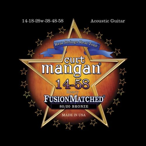 Curt Mangan Fusion Matched 80/20 Bronze Acoustic Strings (14-58)