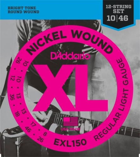 D'Addario Nickel Wound 12-String Electric Strings (Light 10-46)