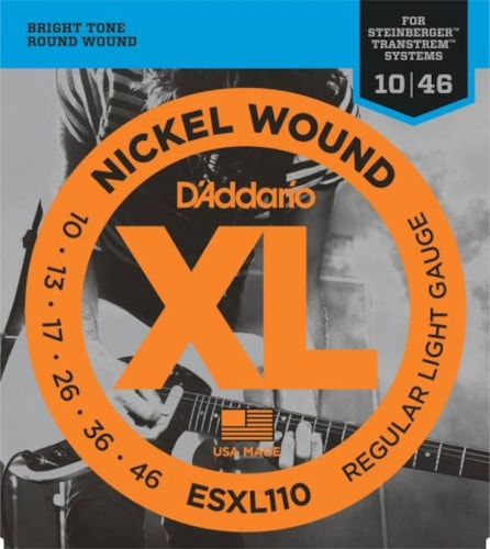 D'Addario Nickel Wound Double Ball End Strings (Regular Light 10-46)