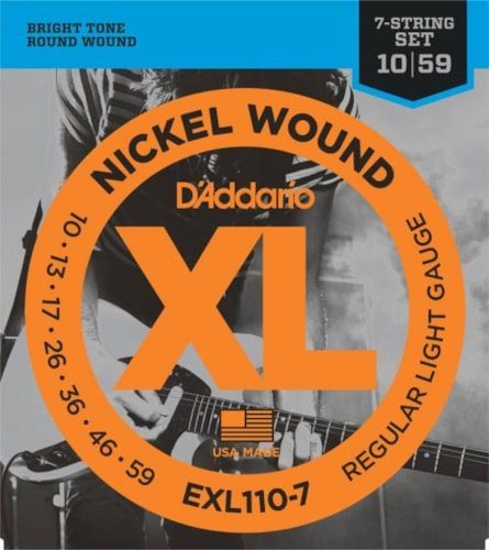 D'Addario Nickel Wound Electric 7-String Set (Reg Light 10-59)