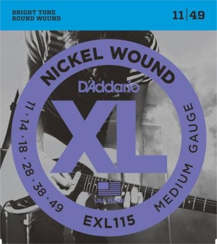 D'Addario Nickel Wound Electric Strings (Blues / Jazz Rock 11-49)