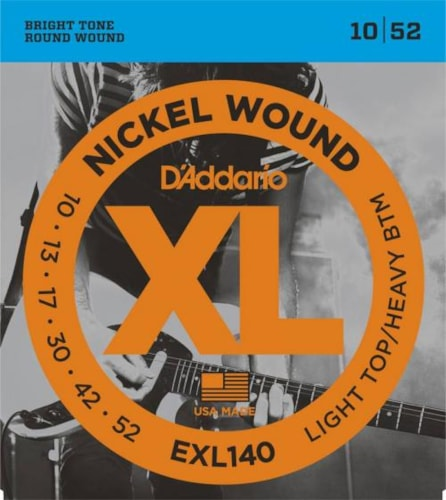 D'Addario Nickel Wound Electric Strings (Light Top/Heavy Bottom 10-52)
