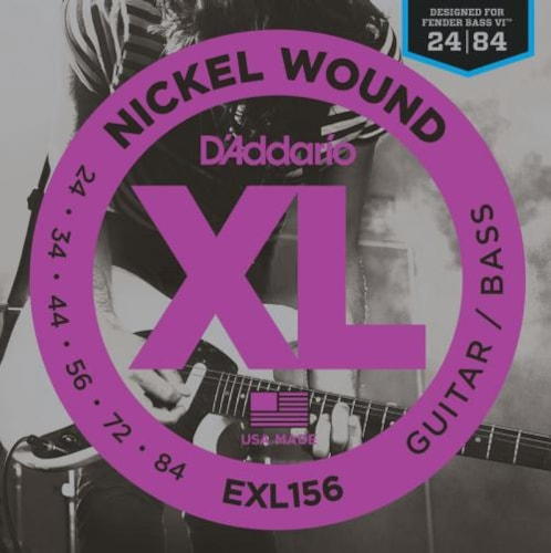 D'Addario Nickel Wound Fender Bass VI Strings (24-84)