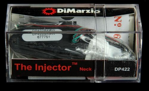 DiMarzio DP422 Paul Gilbert Injector Neck Pickup (Black with White Logo)