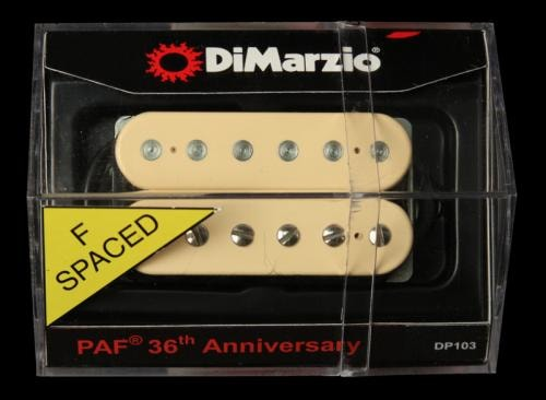 DiMarzio 36th Anniversary PAF Neck Humbucker Pickup (Cream) F-Spaced