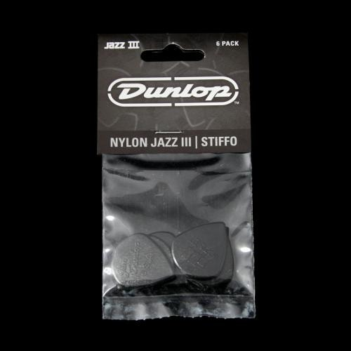 Dunlop Jazz III Black Stiffo Nylon Picks