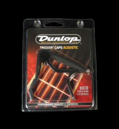 Dunlop Trigger Curved Acoustic Guitar Capo (Black)
