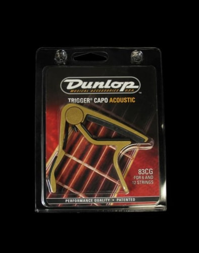 Dunlop Trigger Curved Acoustic Guitar Capo (Gold)