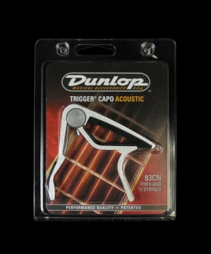 Dunlop Trigger Curved Acoustic Guitar Capo (Nickel)