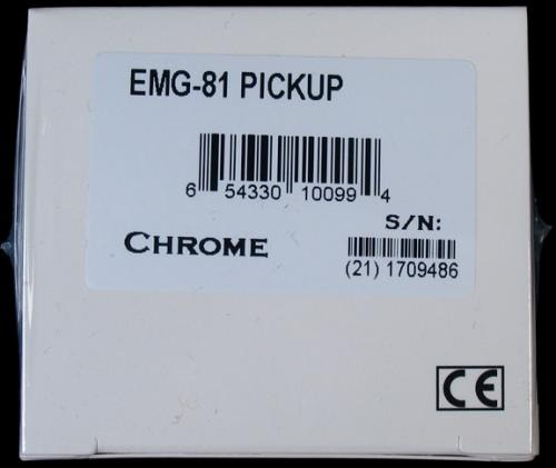 EMG 81 Active Humbucker Pickup (Chrome)
