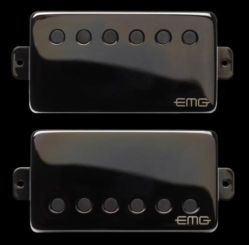 "EMG JH ""HET Set"" Humbucker Pickup Set Black Chrome"