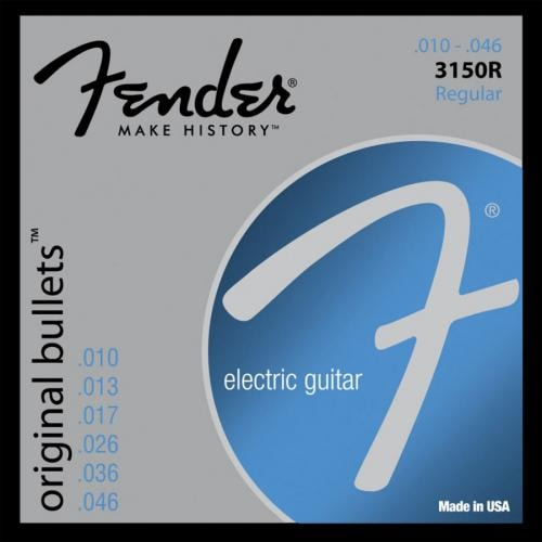 Fender® 3150R Orig Bullets Pure Nickel Electric Strings (10-46)