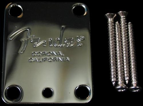 Fender American Standard Guitar Neck Plate (Chrome)