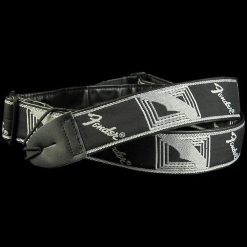 Fender® Monogrammed Logo Guitar Strap (Black/Light Grey/Dark Grey)