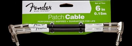 Fender® Patch Cable Two Pack (Black)