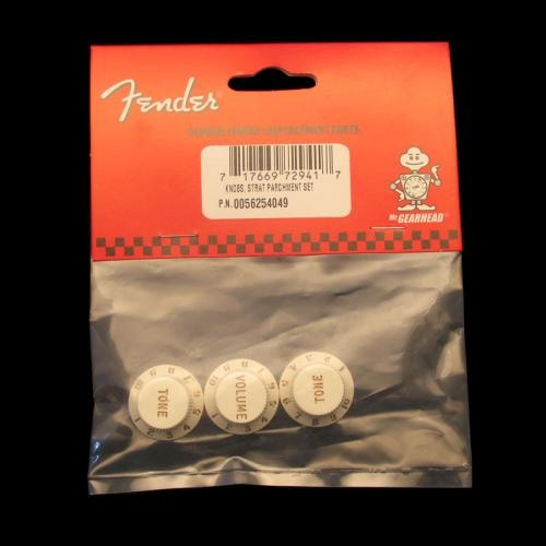 Fender® Stratocaster® Knobs (Parchment)