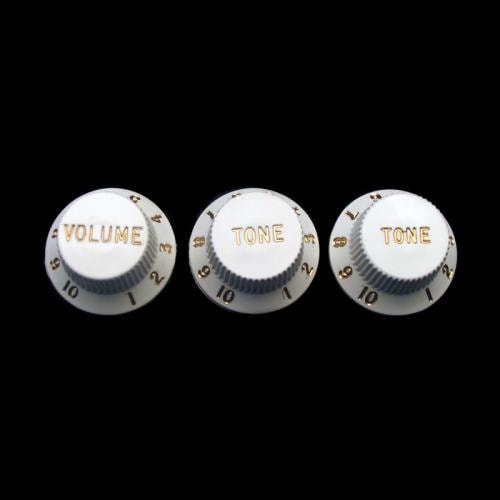 Fender Stratocaster Knobs (White)