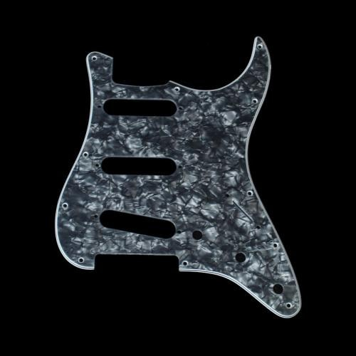 fender stratocaster pickguard black pearl guitar parts the music zoo. Black Bedroom Furniture Sets. Home Design Ideas